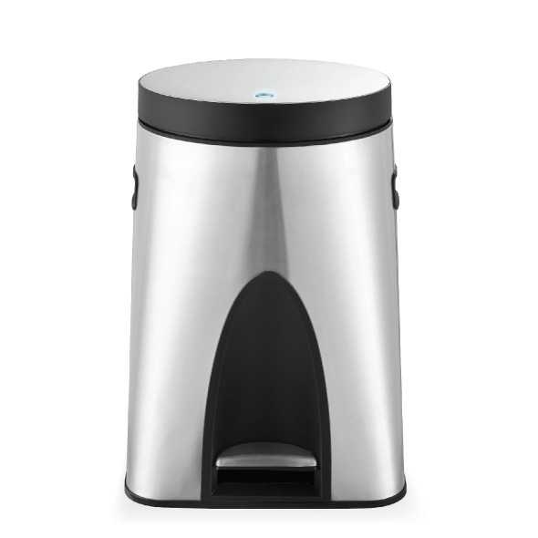 Germ Buster Bin - silver 18 litres